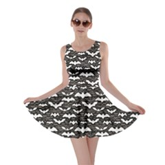 Black Halloween Pattern Skater Dress