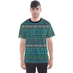 Black Ethnic Colorful Pattern Africa Art Men s Sport Mesh Tee by CoolDesigns