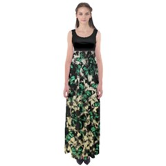 Green Butterfly Floral Empire Waist Maxi Dress by CoolDesigns