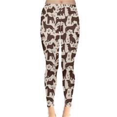 Black Dog Pattern Stok Animals Women s Leggings by CoolDesigns