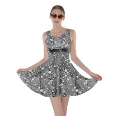 Light Gray Japanese Cherry Blossom Tree Pattern Skater Dress by CoolDesigns