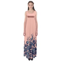 Coral Floral Empire Waist Maxi Dress by CoolDesigns
