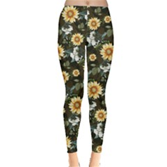 Sun Flowers Leggings  by CoolDesigns