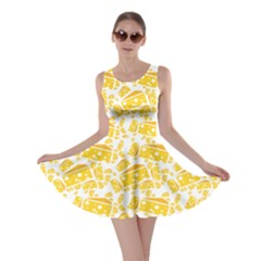 Yellow Cheese Pattern Skater Dress
