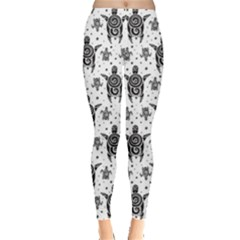 Black Sea Turtles Pattern Leggings by CoolDesigns
