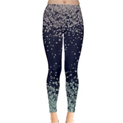 Snow Floral Leggings  by CoolDesigns