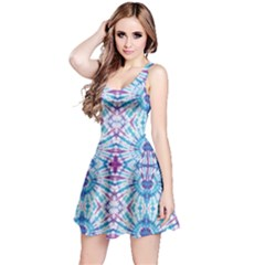 Blue & Purple Tie Dye Reversible Sleeveless Dress by CoolDesigns