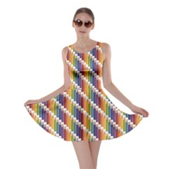 Colorful Colored Rainbow Pencils Pattern Skater Dress by CoolDesigns