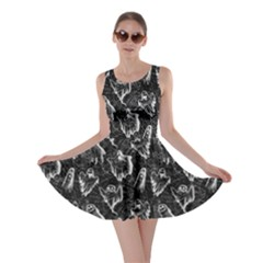 Black Ghost Halloween Skater Dress by CoolDesigns