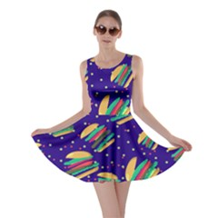 Navy Hamburger Skater Dress by CoolDesigns