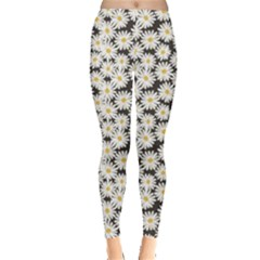 Colorful Daisies Pattern Leggings
