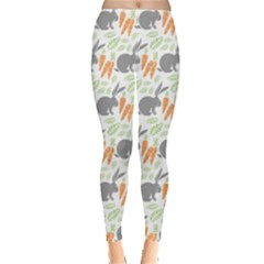Colorful Pattern Bunny Carrots Women s Leggings