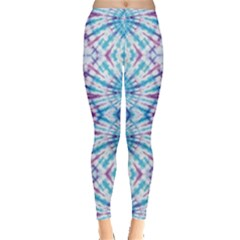 Blue & Purple Tie Dye Leggings by CoolDesigns
