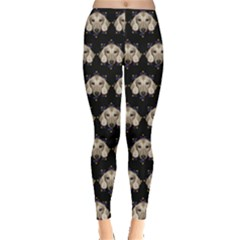 Dachshund Black Leggings  by CoolDesigns