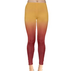Sunset Gradient Tie Dye Leggings by CoolDesigns