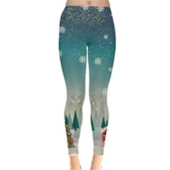 Xmas Town Leggings  by CoolDesigns