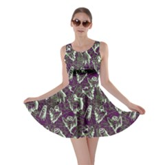 Dark Purple Ghost Halloween Skater Dress