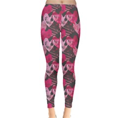 Heart Watercolor Leggings