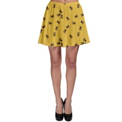 Yellow Pattern Of The Bee On Honeycombs Skater Dress by CoolDesigns