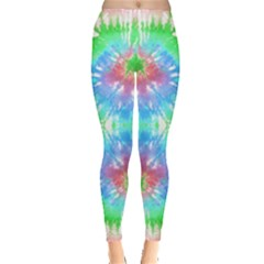 Green & Blue Tie Dye Leggings by CoolDesigns