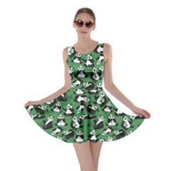 Green Panda Skater Dress by CoolDesigns