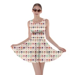 Brown Hot Air Balloon Pattern Skater Dress by CoolDesigns