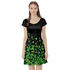 Shamrock Falling Short Sleeve Skater Dress