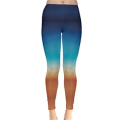 Desert Gradient Tie Dye Leggings by CoolDesigns