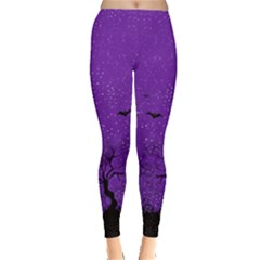 Purple Halloween Leggings
