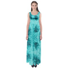 Mint Tie Dye Empire Waist Maxi Dress by CoolDesigns