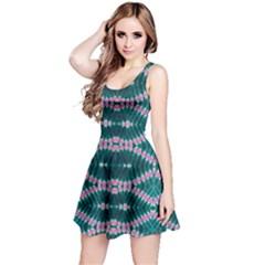 Turquoise Tie Dye Reversible Sleeveless Dress