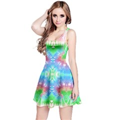 Green & Blue Tie Dye Reversible Sleeveless Dress by CoolDesigns
