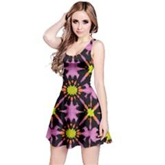Purple & Orange Tie Dye Reversible Sleeveless Dress