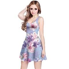 Light Blue Sakura Sleeveless Dress