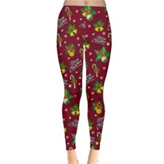 Wine Xmas Logo Leggings  by CoolDesigns