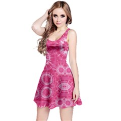 Hot Pink Pattern Tie Dye Sleeveless Dress by CoolDesigns