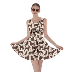 Black Dog Pattern Stok Animals Skater Dress