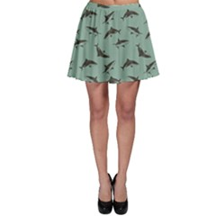 Turquoise Pattern Sharks Skater Skirt by CoolDesigns