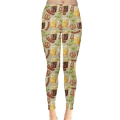 Colorful Glass Mugs Lager Dark Beer Hop Pretzel Sausage Pattern Leggings