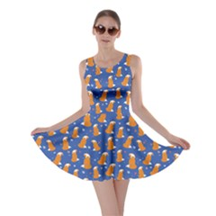 Blue Fox Pattern Skater Dress by CoolDesigns