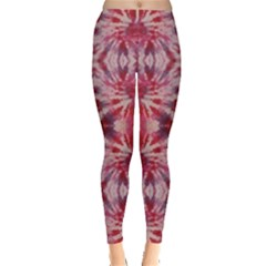 Red Tie Dye Leggings by CoolDesigns