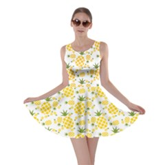 Yellow Pineapple Pattern Skater Dress by CoolDesigns