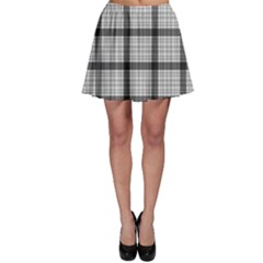 Light Gray Tartan Plaid Pattern Skater Skirt by CoolDesigns
