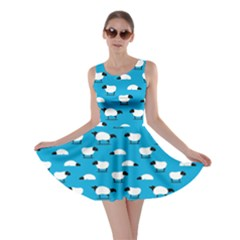 Sky Blue Wolfs Dressed In Sheeps Skater Dress by CoolDesigns