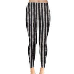 Black Strip Tie Dye Leggings by CoolDesigns