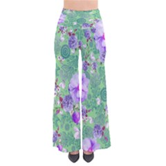 LightGreenPaisley Chic Palazzo Pants by CoolDesigns