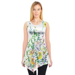 White Garden Sleeveless Tunic Top