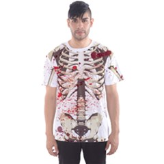 Faux Bloody Skeleton Men s Sport Mesh Tee by CoolDesigns