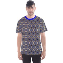 Blue Arabic Pattern In Editable File Men s Sport Mesh Tee by CoolDesigns