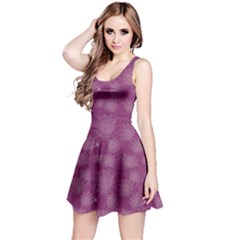 Purple Halloween Spider Web Pattern Skater Dress